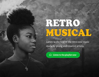 Retro Musical Screen