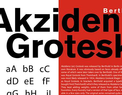 Typeface poster Akzidenz Grotesk