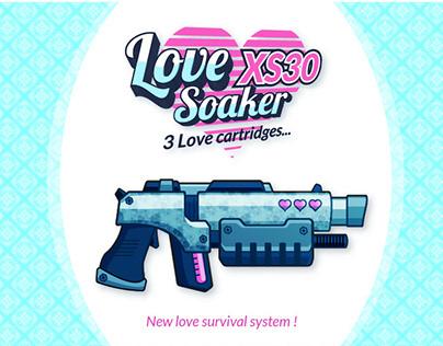 Pistolet à eau / Love Soaker / 2020