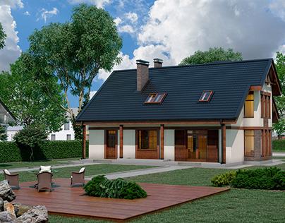 home near Kyiv, Ukraine