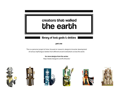 Creators that walked the earth | Part one
