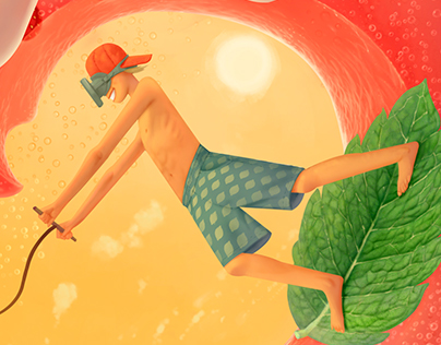 "illustrations for soft drink ""Enjoy"""