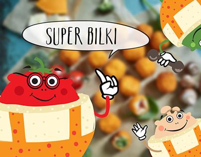 Розробка персонажів для рибних кульок SUPER BILKI