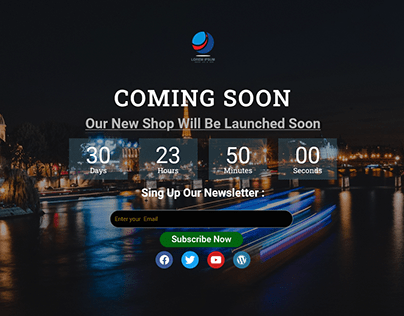 Coming soon page design with wordpress