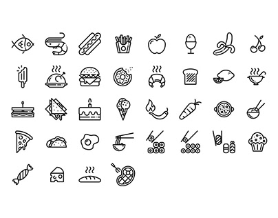 Food - Lipo Icon Set
