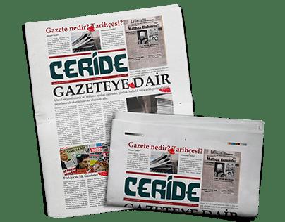 NEWSPAPER DESIGN CERİDE