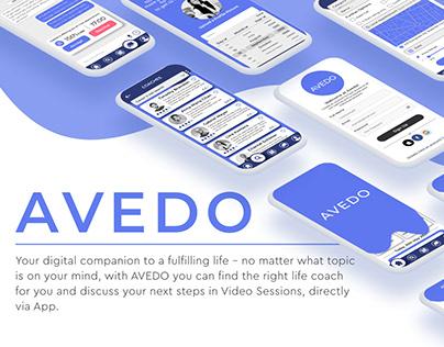 UX Case Study of digital Coaching Web App - AVEDO