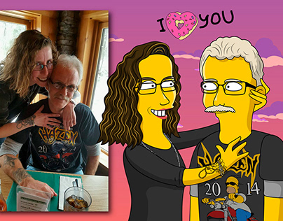 Portraits In The Simpsons Style