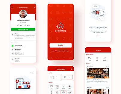 24 Saatte İş - Mobile App for Recruitment