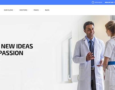 Deep Health Clinic Template Design by Deep Theme