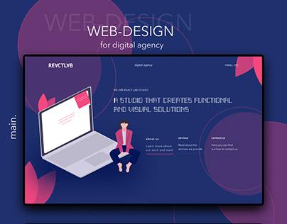 web-design for digital agency