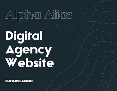 Alpha Alias Agency Website