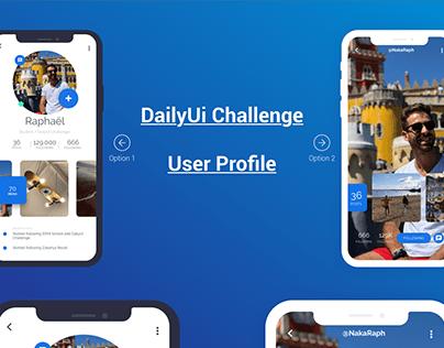 Daily UI : 006 - User Profile