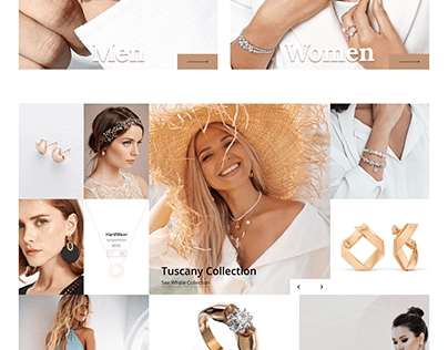 Design concept of the jewelry website