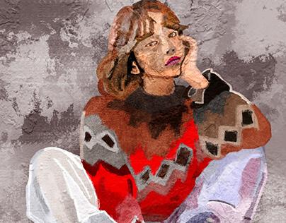 Ilustración Chica Maja