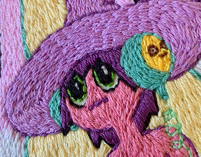 The Midnight Gospel Embroidery Process