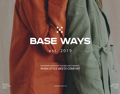 Brand identity for fashion brand Base Ways