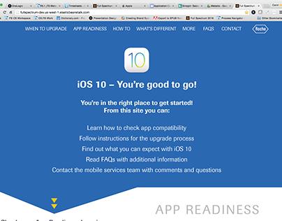 Roche iOS Launch responsive site