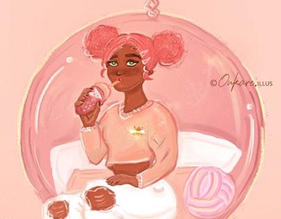 Pink Bubble Tea - Dtiys Challenge