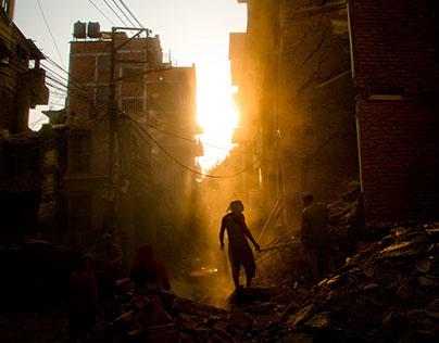 A Dusk Clearing in Kathmandu,