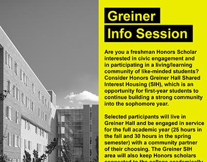 Greiner Info Session Promotion