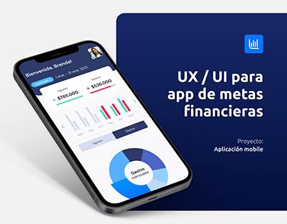 Metas financieras   Caso estudio UX   UI