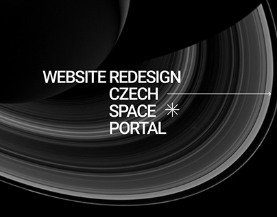 Website redesign for Czech Space Portal