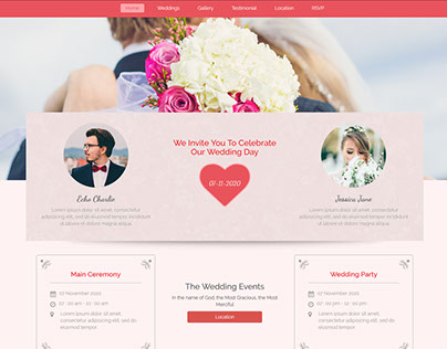 Reluve Responsive Wedding Invitation