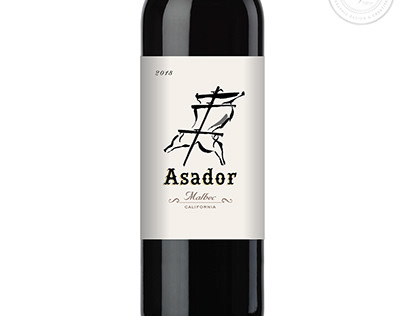 Wine Label Design for Asador