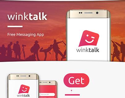 WinkTalk Free Messaging App Design