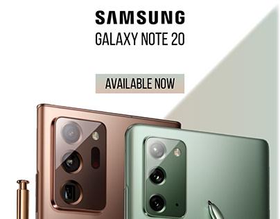Social Media Post Design - Samsung Galaxy Note 20