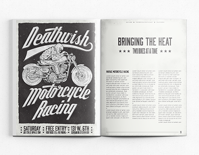 Hand Lettered Editorial Design
