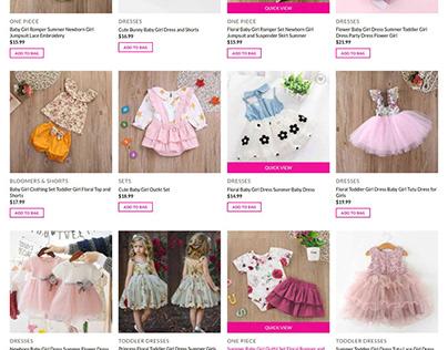 Babyclothesgirls E-commerce website