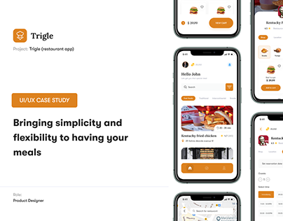 Trigle Case study (restaurant locating and ordering)