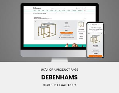 Debenhams Product Page Re-Design - Concept