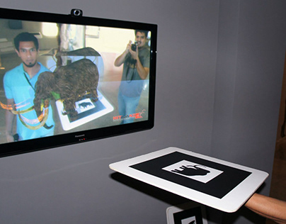 Interactive AR exhibit for MUSAN (2012)