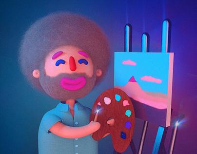 Bob Ross | 3D illustration