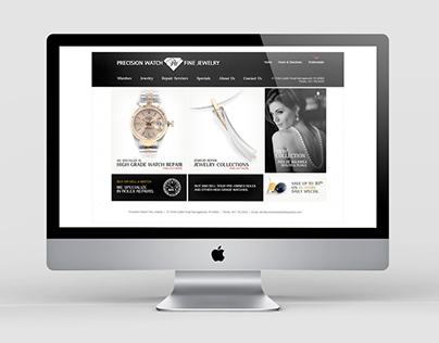Jewelry Store logo and website