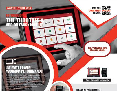 Throttle Print Ad Design