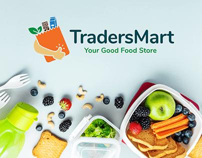 Grocery Store Brand Identity & UIUX Design TradersMart