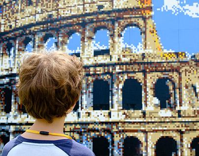 Giant LEGO brick mosaics