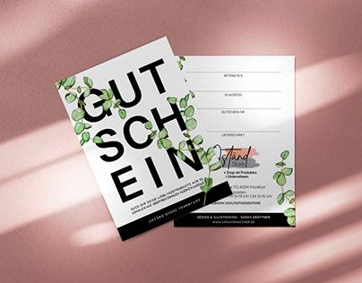 Giftcard design + illustration