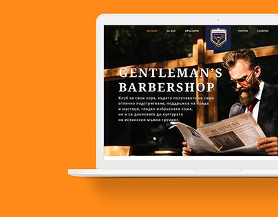 Gentleman's Barbershop UX/UI