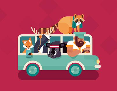 Rhom Bus | IOs Game by CreatiuLab