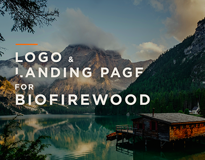 BioFirewood - Landing page