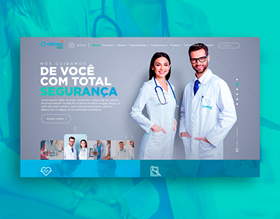 Design site Clínica Cebrom