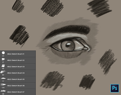 ABLG Photoshop Sketch Brushes