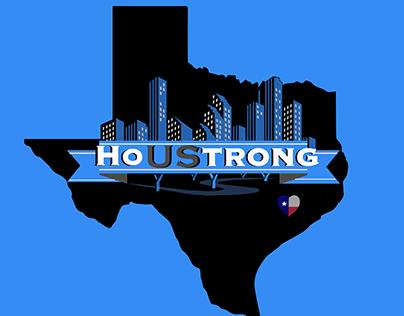 HoUStrong Hurricane Harvey Fundraiser Logo and Apparel