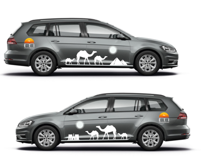 Design od car stickets