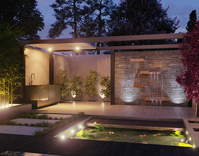 3d visualization of backyard